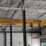 6 Ton Under Hung Single Girder Crane w/ (3) Hoist/Trolleys